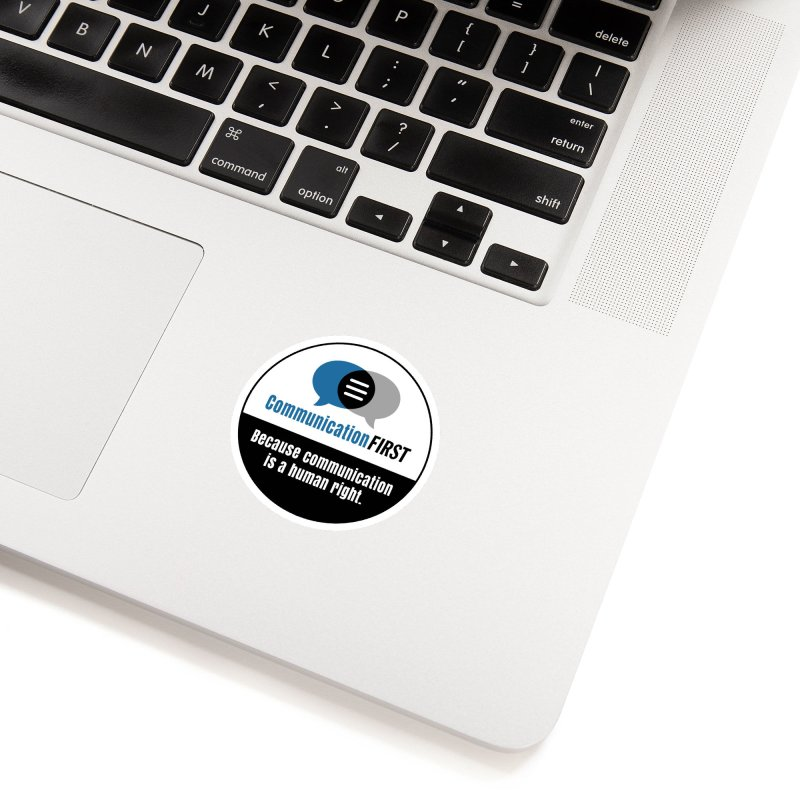Logo Blue V2 Accessories Sticker by CommunicationFIRST's Artist Shop