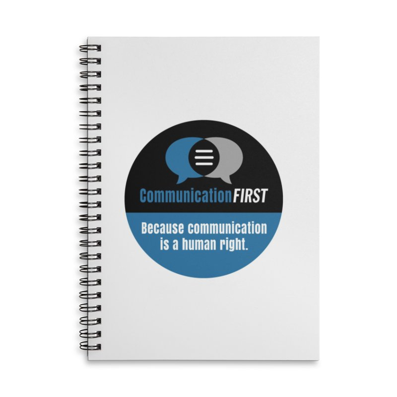 Logo Blue on Black V2 Accessories Notebook by CommunicationFIRST's Artist Shop