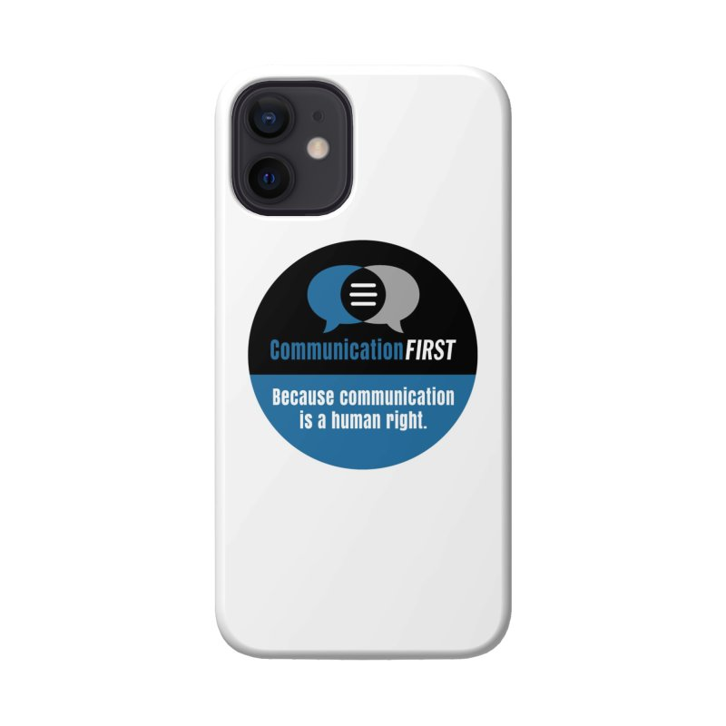 Logo Blue on Black V2 Accessories Phone Case by CommunicationFIRST's Artist Shop