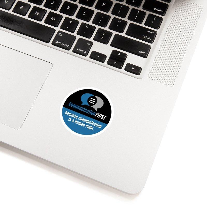 Logo Blue on Black V2 Accessories Sticker by CommunicationFIRST's Artist Shop