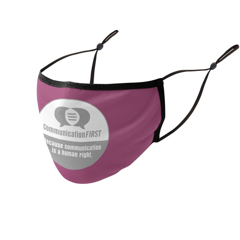 Grey-White Round CommunicationFIRST Logo Accessories Face Mask by CommunicationFIRST's Artist Shop