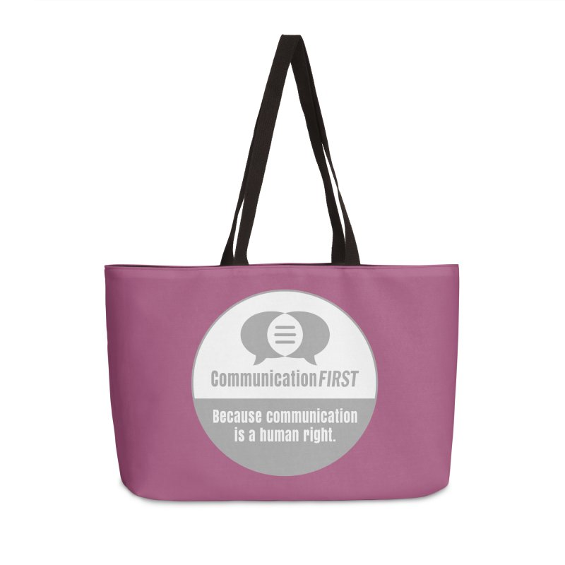 Grey-White Round CommunicationFIRST Logo Accessories Bag by CommunicationFIRST's Artist Shop