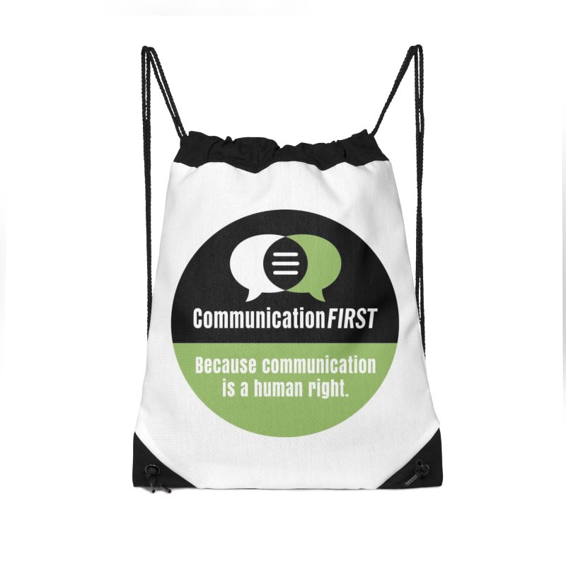 Black-Green-White Round CommunicationFIRST Logo Accessories Bag by CommunicationFIRST's Artist Shop