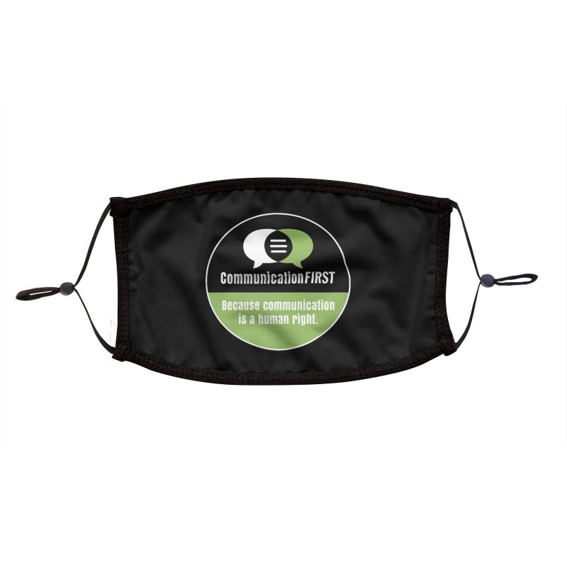 Black-Green-White Round CommunicationFIRST Logo Accessories Face Mask by CommunicationFIRST's Artist Shop