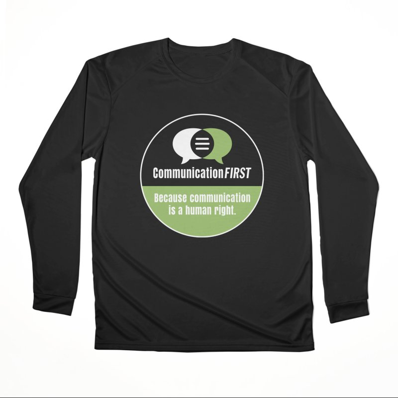 Black-Green-White Round CommunicationFIRST Logo Men's Longsleeve T-Shirt by CommunicationFIRST's Artist Shop