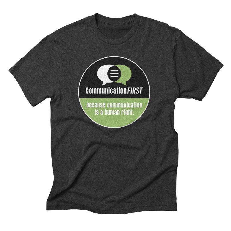 Black-Green-White Round CommunicationFIRST Logo Men's T-Shirt by CommunicationFIRST's Artist Shop
