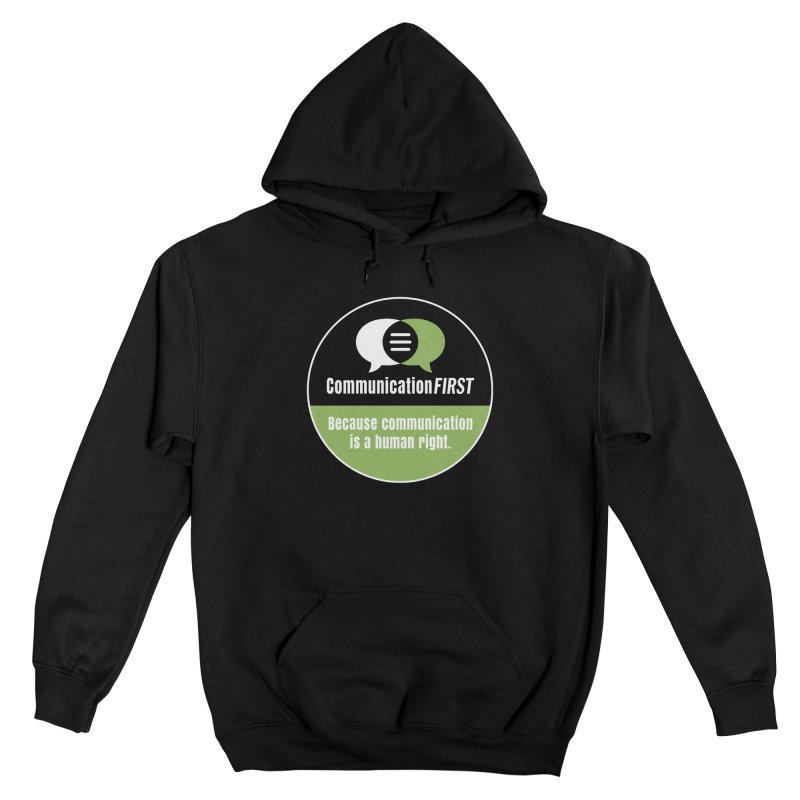 Black-Green-White Round CommunicationFIRST Logo Men's Pullover Hoody by CommunicationFIRST's Artist Shop