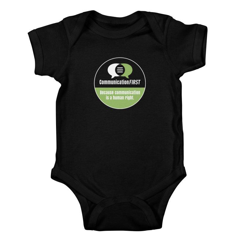 Black-Green-White Round CommunicationFIRST Logo Kids Baby Bodysuit by CommunicationFIRST's Artist Shop