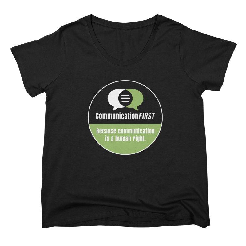 Black-Green-White Round CommunicationFIRST Logo Women's Scoop Neck by CommunicationFIRST's Artist Shop