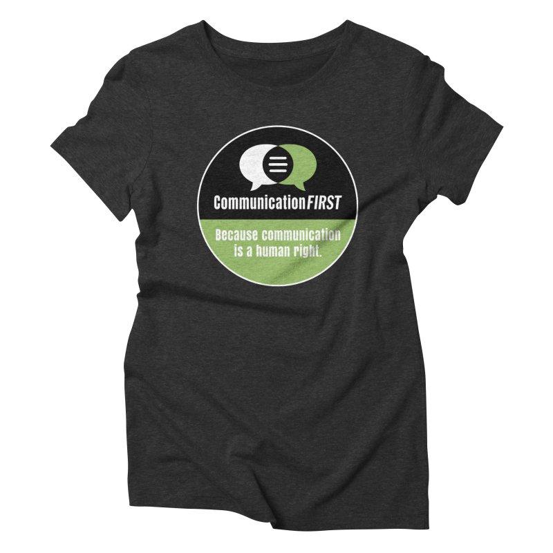Black-Green-White Round CommunicationFIRST Logo Women's T-Shirt by CommunicationFIRST's Artist Shop