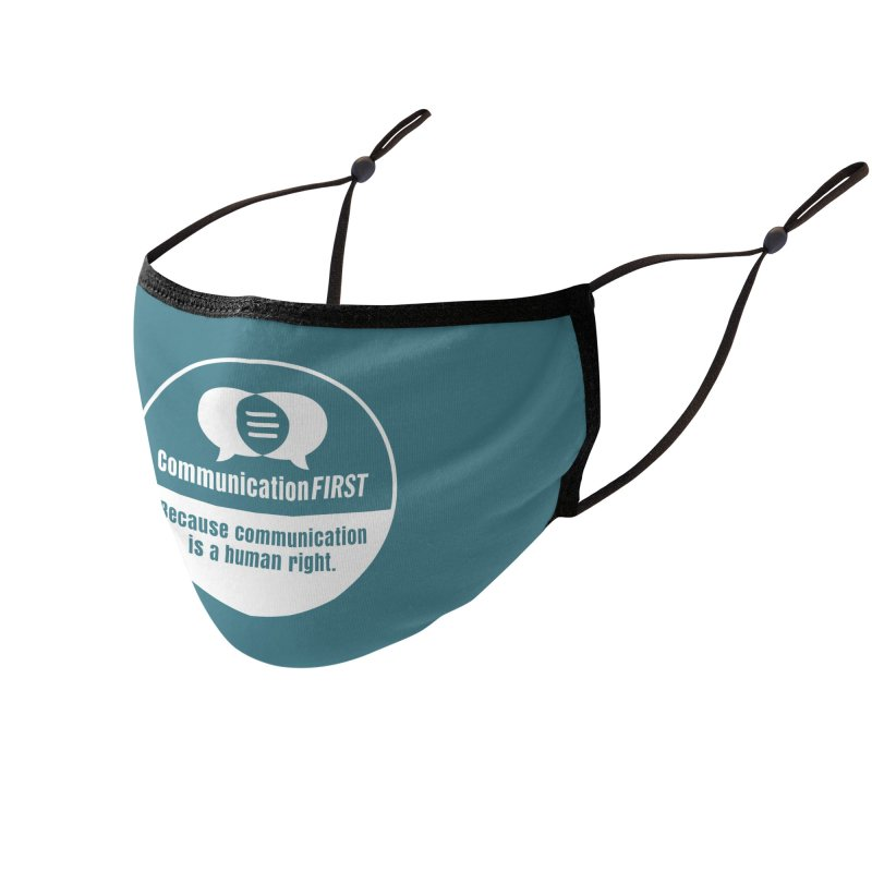 White-on-Color Round CommunicationFIRST Logo Accessories Face Mask by CommunicationFIRST's Artist Shop