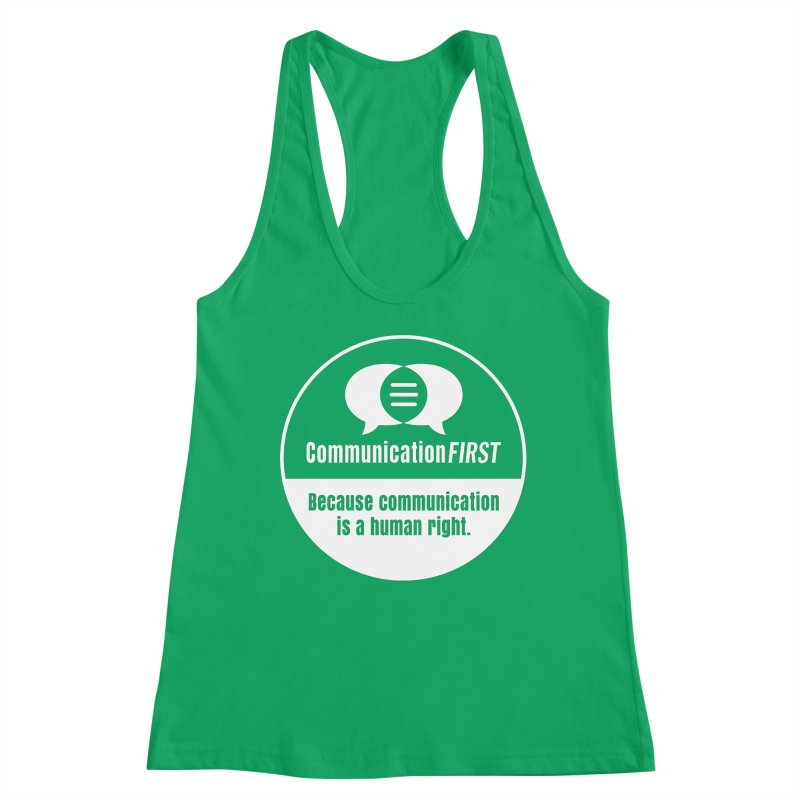 White-on-Color Round CommunicationFIRST Logo Women's Tank by CommunicationFIRST's Artist Shop