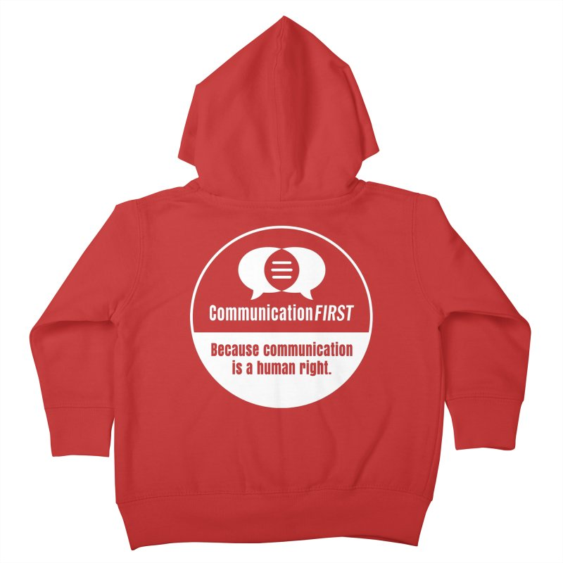White-on-Color Round CommunicationFIRST Logo Kids Toddler Zip-Up Hoody by CommunicationFIRST's Artist Shop