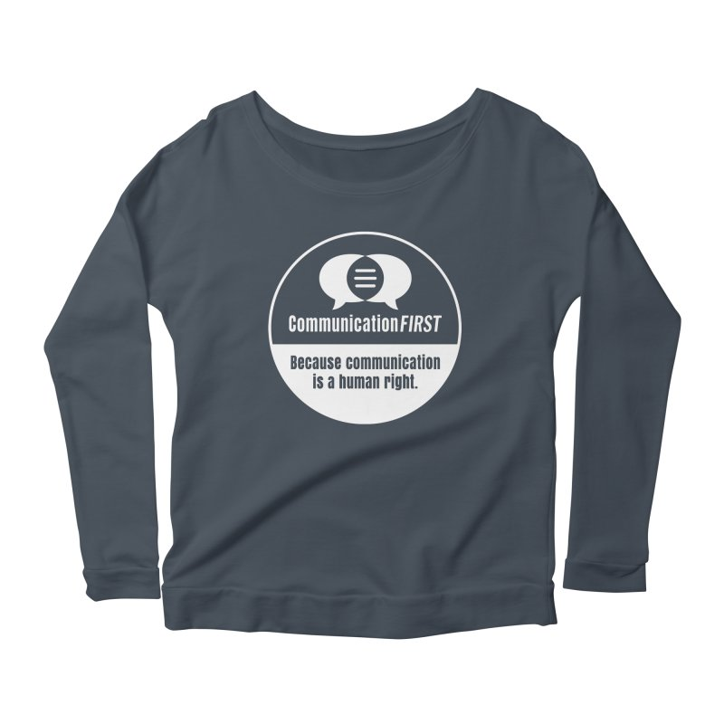 White-on-Color Round CommunicationFIRST Logo Women's Longsleeve T-Shirt by CommunicationFIRST's Artist Shop