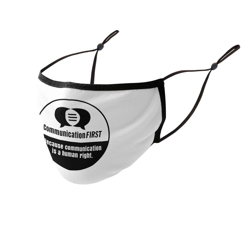 Black-and-White Round CommunicationFIRST Logo Accessories Face Mask by CommunicationFIRST's Artist Shop