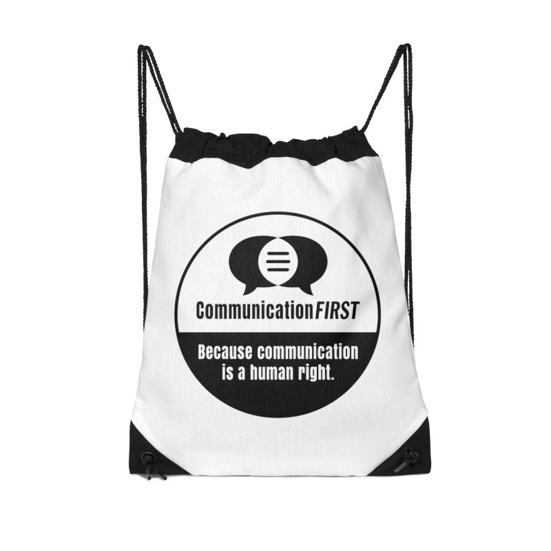 Black-and-White Round CommunicationFIRST Logo Accessories Bag by CommunicationFIRST's Artist Shop