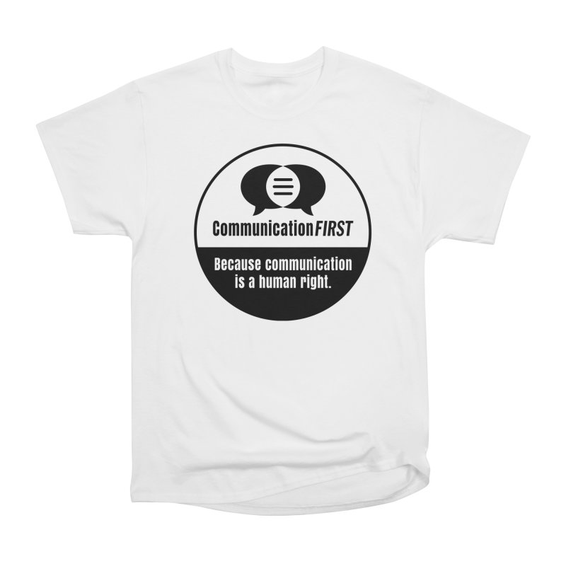 Black-and-White Round CommunicationFIRST Logo Women's T-Shirt by CommunicationFIRST's Artist Shop