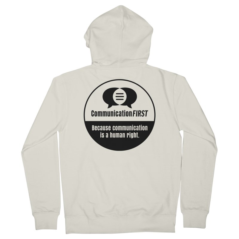 Black-and-White Round CommunicationFIRST Logo Women's Zip-Up Hoody by CommunicationFIRST's Artist Shop