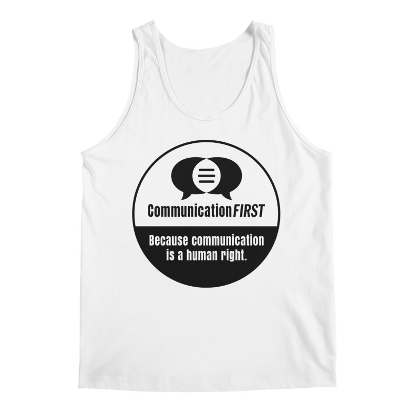 Black-and-White Round CommunicationFIRST Logo Men's Tank by CommunicationFIRST's Artist Shop