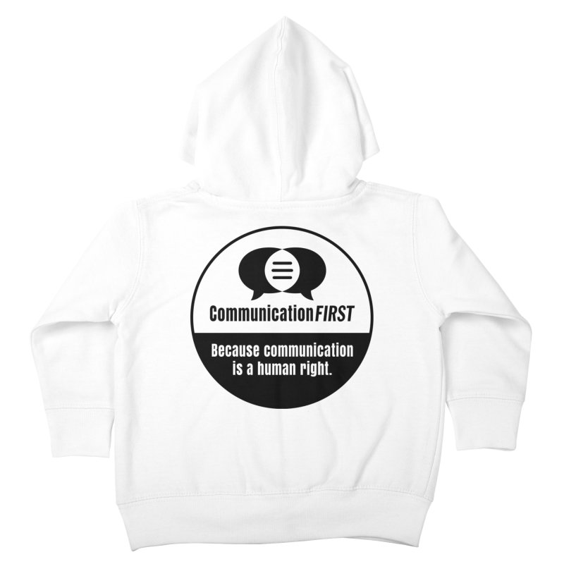 Black-and-White Round CommunicationFIRST Logo Kids Toddler Zip-Up Hoody by CommunicationFIRST's Artist Shop