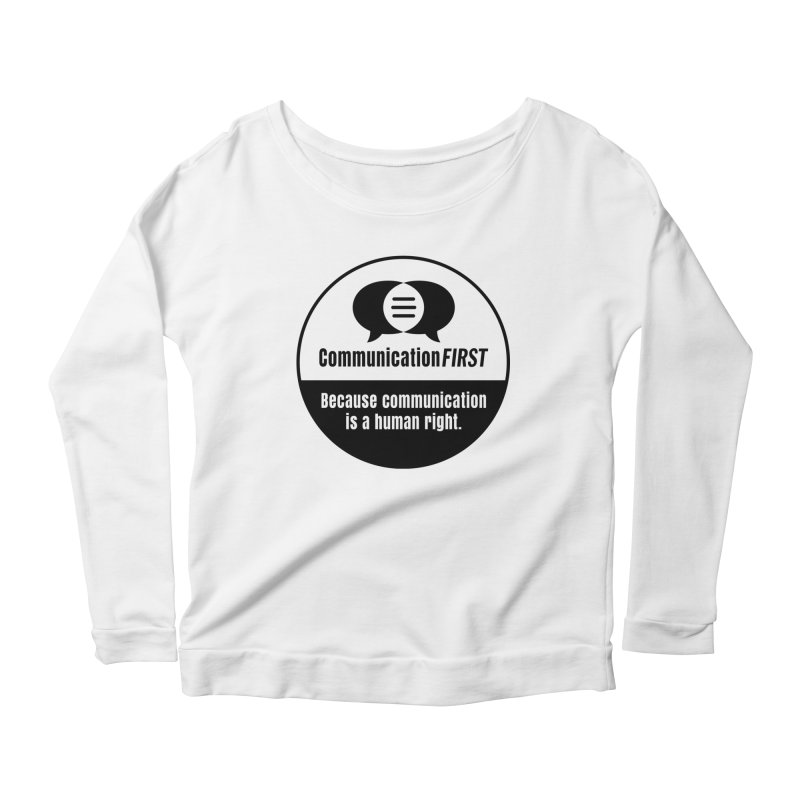 Black-and-White Round CommunicationFIRST Logo Women's Longsleeve T-Shirt by CommunicationFIRST's Artist Shop
