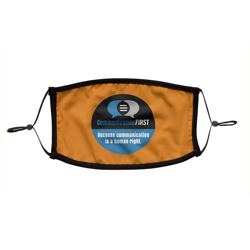 Blue-Black Round CommunicationFIRST Logo Accessories Face Mask by CommunicationFIRST's Artist Shop