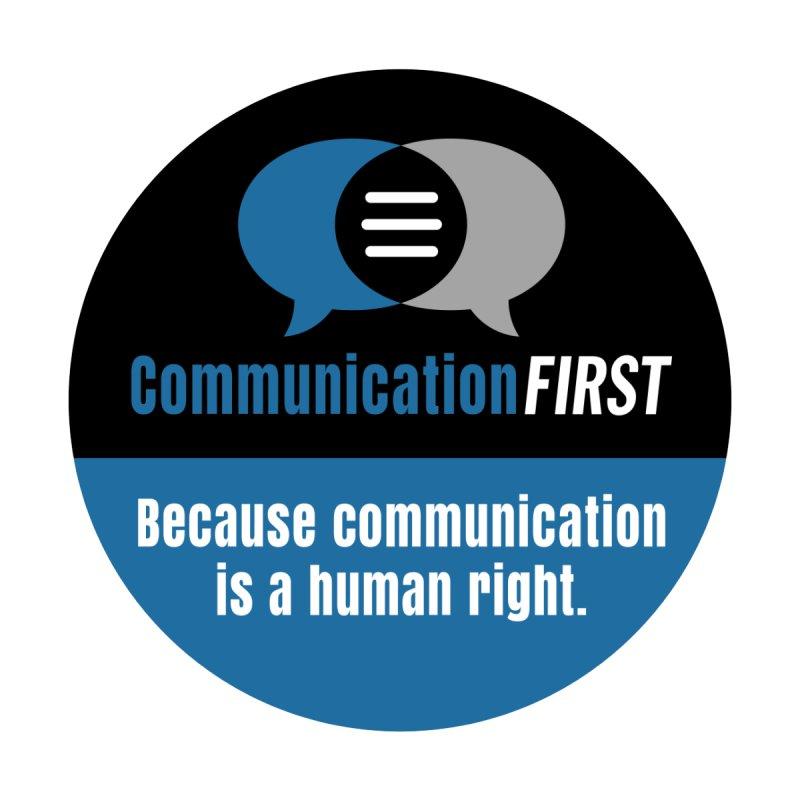 Logo blue-on-white-V2 Apparel Men's T-Shirt by CommunicationFIRST's Artist Shop