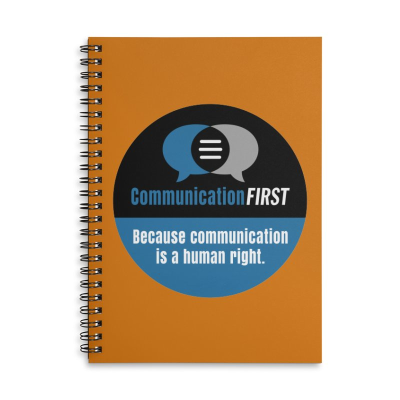 Blue-Black Round CommunicationFIRST Logo Accessories Notebook by CommunicationFIRST's Artist Shop