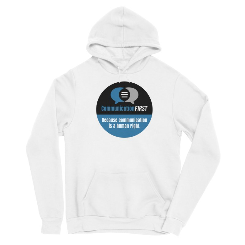 Blue-Black Round CommunicationFIRST Logo Women's Pullover Hoody by CommunicationFIRST's Artist Shop