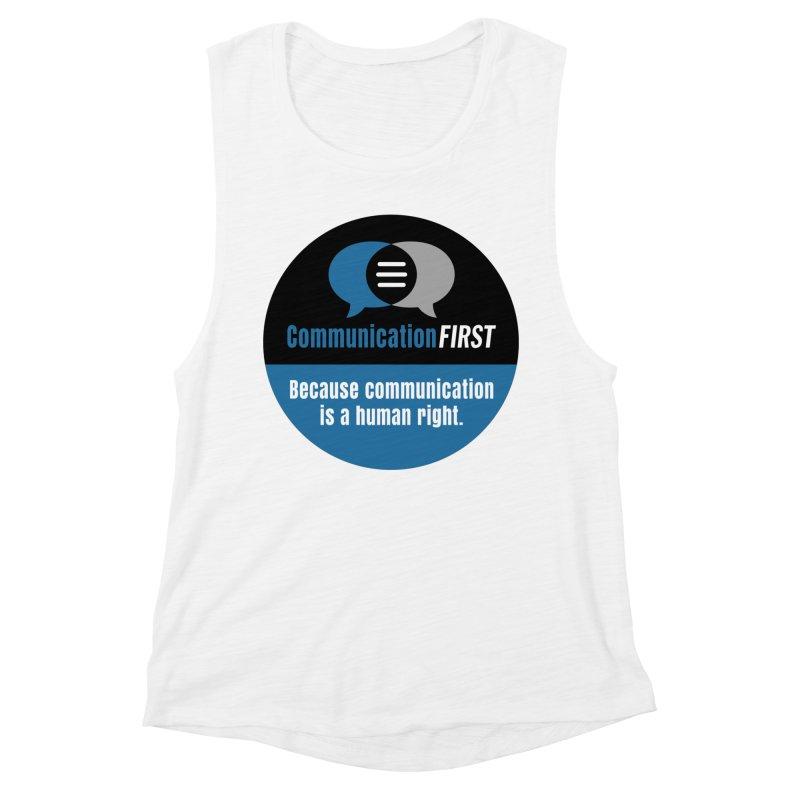 Blue-Black Round CommunicationFIRST Logo Women's Tank by CommunicationFIRST's Artist Shop