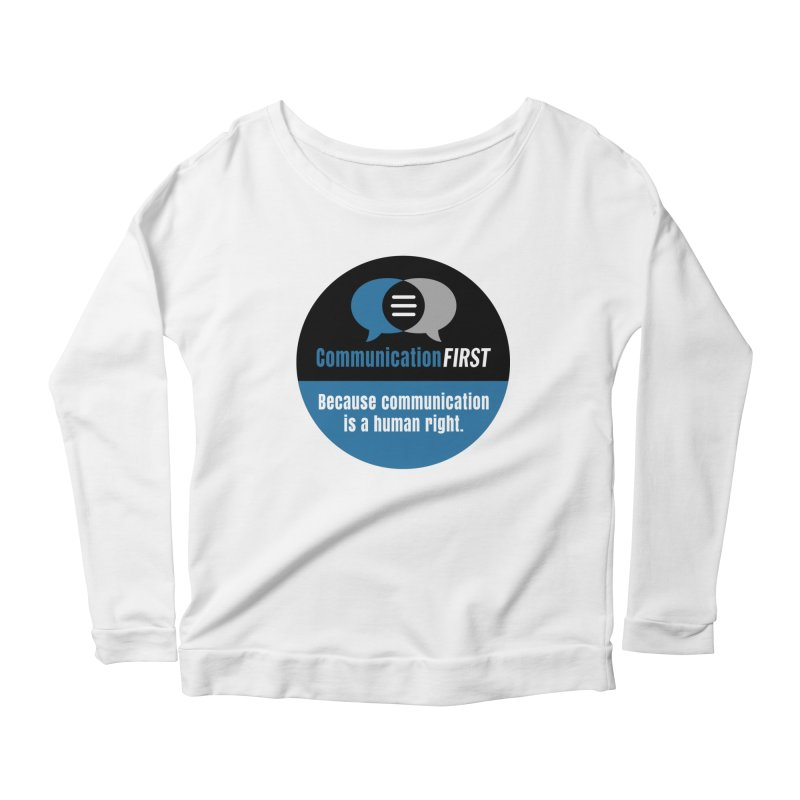 Blue-Black Round CommunicationFIRST Logo Women's Longsleeve T-Shirt by CommunicationFIRST's Artist Shop