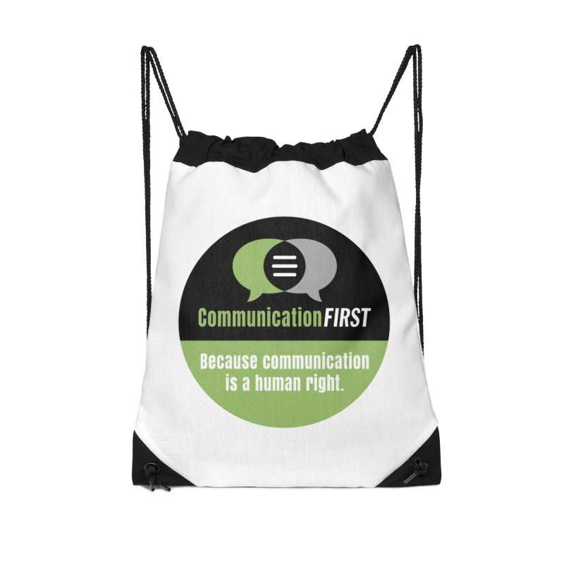 Green-on-Black Round CommunicationFIRST Logo Accessories Bag by CommunicationFIRST's Artist Shop