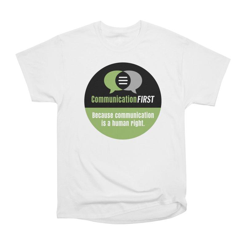 Green-on-Black Round CommunicationFIRST Logo Men's T-Shirt by CommunicationFIRST's Artist Shop