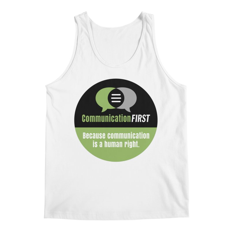 Green-on-Black Round CommunicationFIRST Logo Men's Tank by CommunicationFIRST's Artist Shop