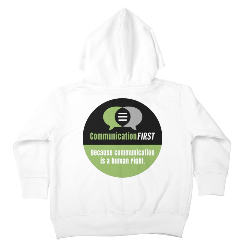 Green-on-Black Round CommunicationFIRST Logo Kids Toddler Zip-Up Hoody by CommunicationFIRST's Artist Shop
