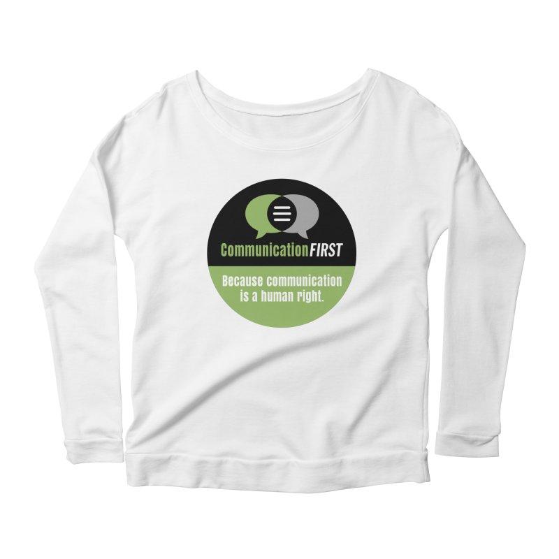 Green-on-Black Round CommunicationFIRST Logo Women's Longsleeve T-Shirt by CommunicationFIRST's Artist Shop