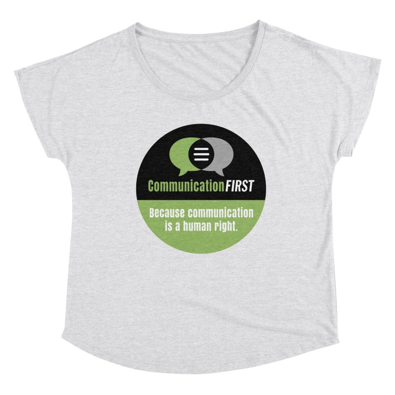 Green-on-Black Round CommunicationFIRST Logo Women's Scoop Neck by CommunicationFIRST's Artist Shop