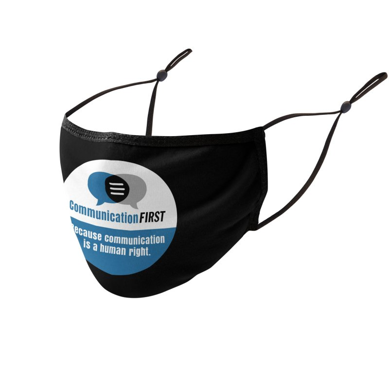 Blue-White Round CommunicationFIRST Logo Accessories Face Mask by CommunicationFIRST's Artist Shop