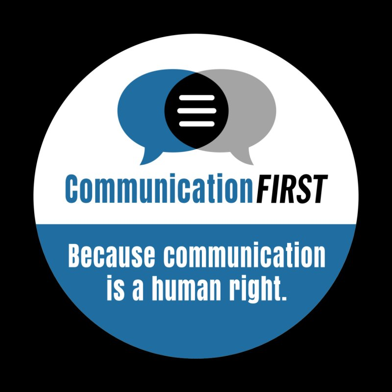 Blue-on-Black CommunicationFIRST Face Mask Men's T-Shirt by CommunicationFIRST's Artist Shop