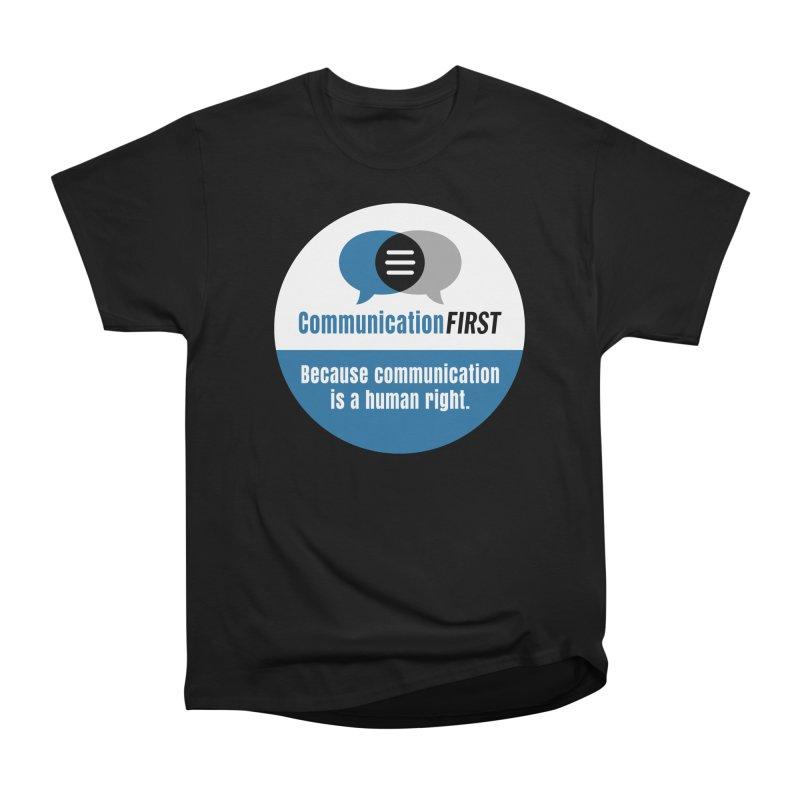 Blue-White Round CommunicationFIRST Logo Men's T-Shirt by CommunicationFIRST's Artist Shop