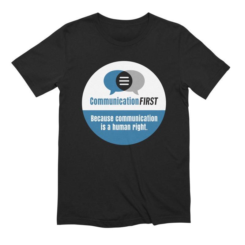 Blue-on-Black CommunicationFIRST Face Mask Men's T-Shirt by CommunicationFIRST's Artist Shop