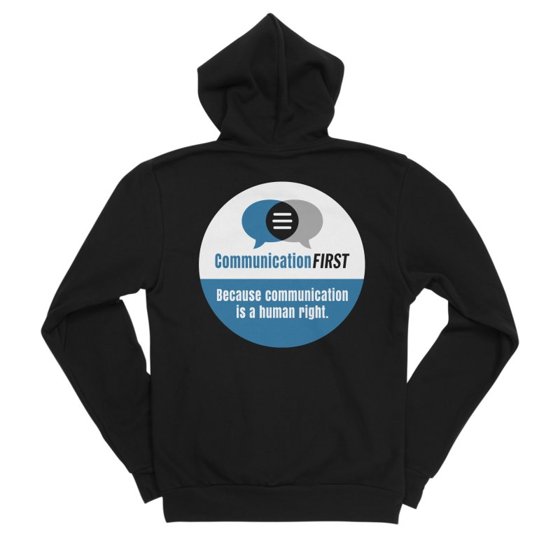 Blue-White Round CommunicationFIRST Logo Women's Zip-Up Hoody by CommunicationFIRST's Artist Shop