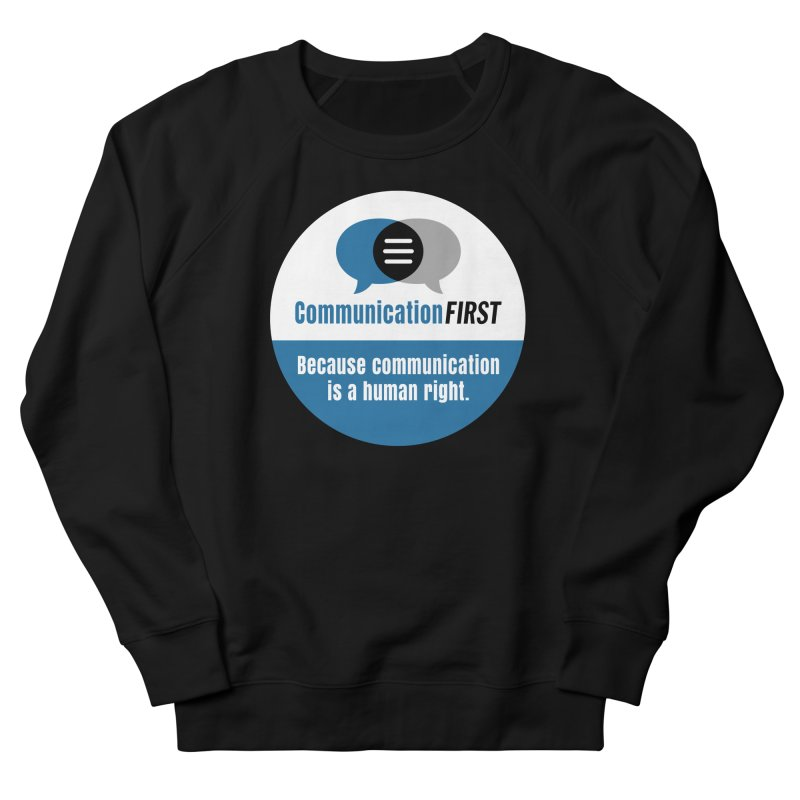 Blue-on-Black CommunicationFIRST Face Mask Men's Sweatshirt by CommunicationFIRST's Artist Shop