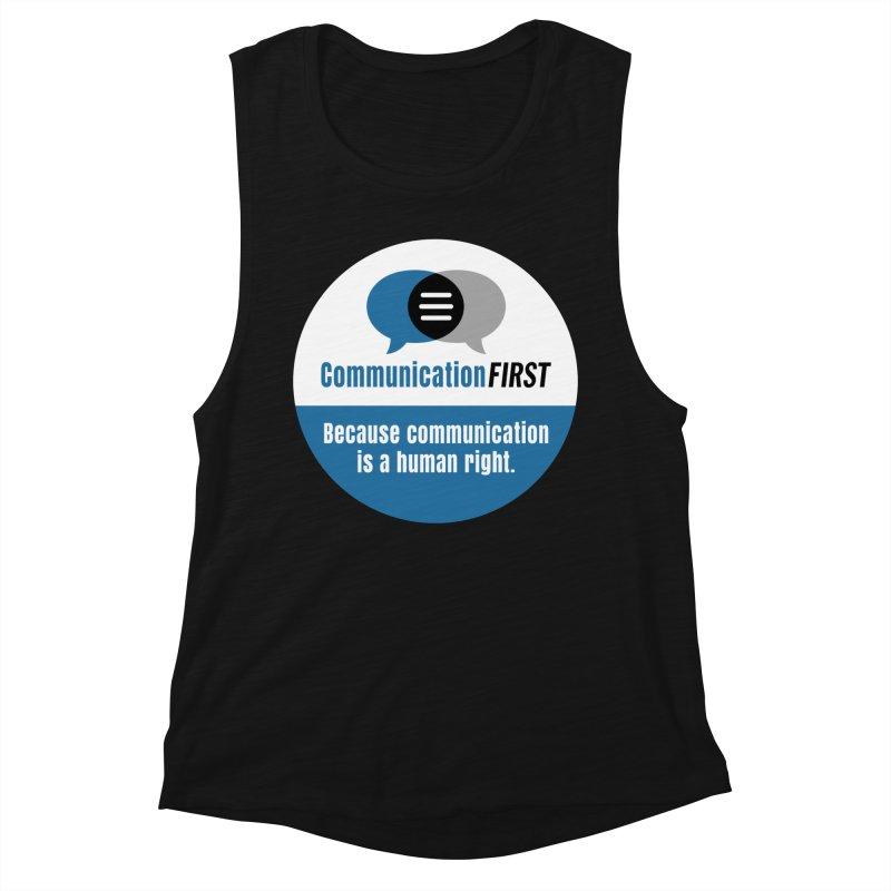 Blue-White Round CommunicationFIRST Logo Women's Tank by CommunicationFIRST's Artist Shop