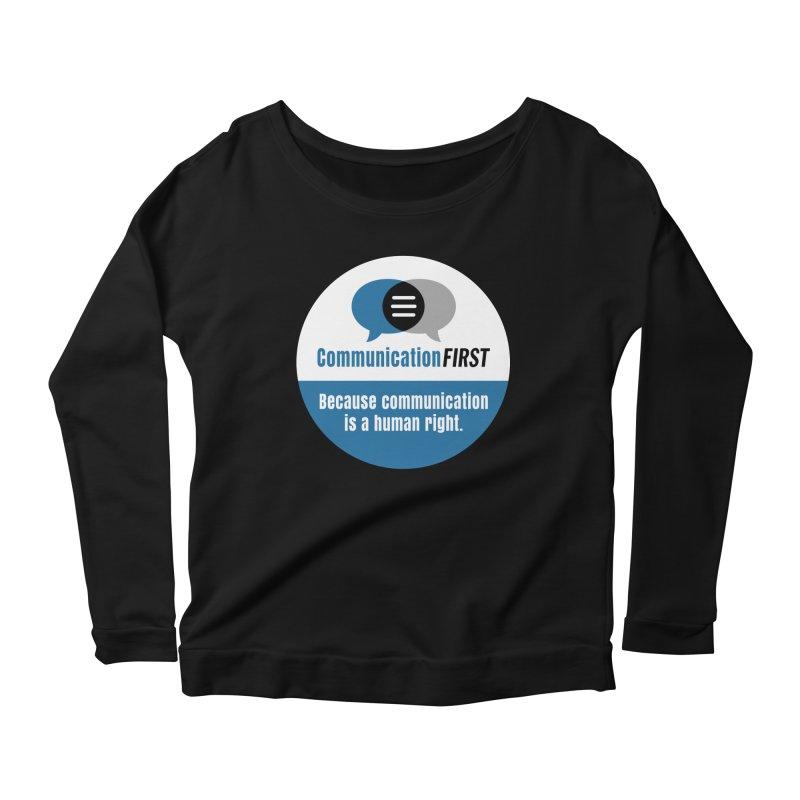 Blue-White Round CommunicationFIRST Logo Women's Longsleeve T-Shirt by CommunicationFIRST's Artist Shop