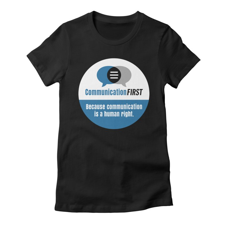 Blue-on-Black CommunicationFIRST Face Mask Women's T-Shirt by CommunicationFIRST's Artist Shop