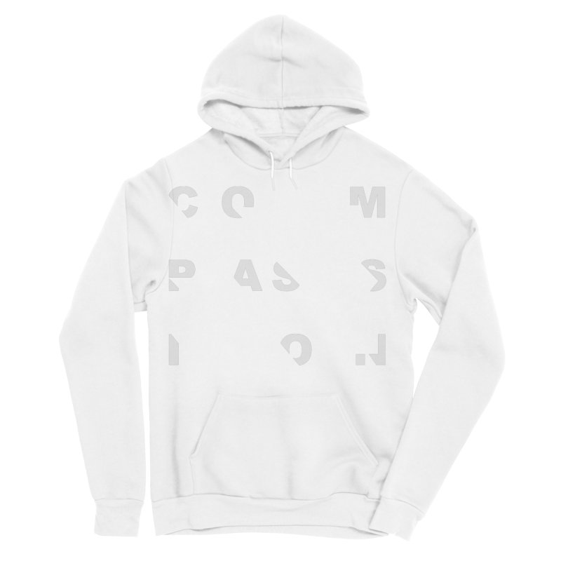 Compassion Disjointed Text Men's Sponge Fleece Pullover Hoody by compassion's Artist Shop
