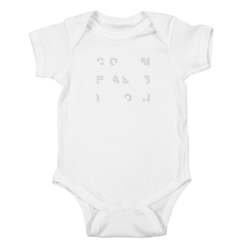 Compassion Disjointed Text Kids Baby Bodysuit by compassion's Artist Shop