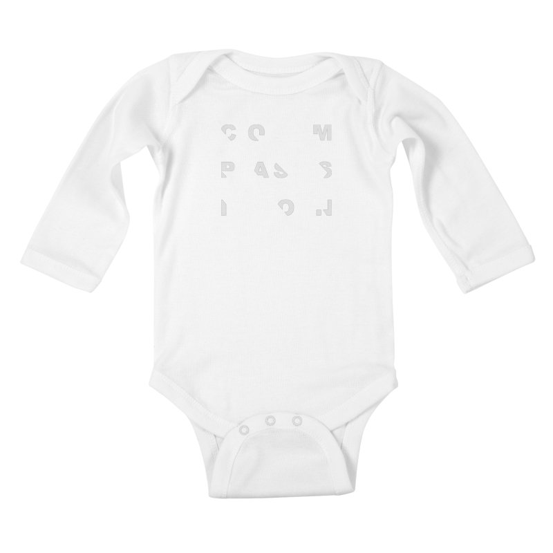 Compassion Disjointed Text Kids Baby Longsleeve Bodysuit by compassion's Artist Shop