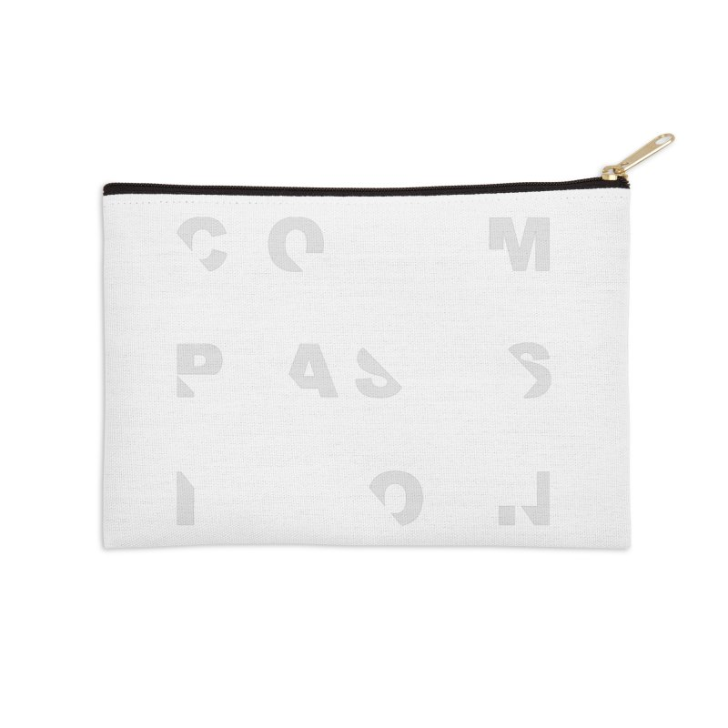 Compassion Disjointed Text Accessories Zip Pouch by compassion's Artist Shop